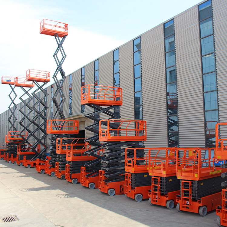 Self-propelled Scissor Lift Test Before Shipment