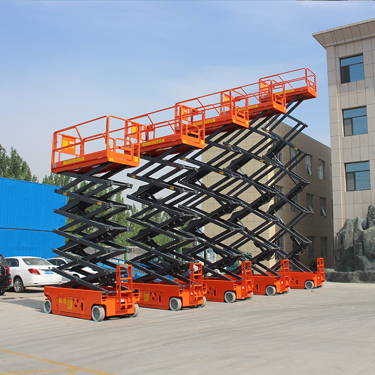 43 Sets Self-Propelled Scissor Lift Are Ready For Shipment